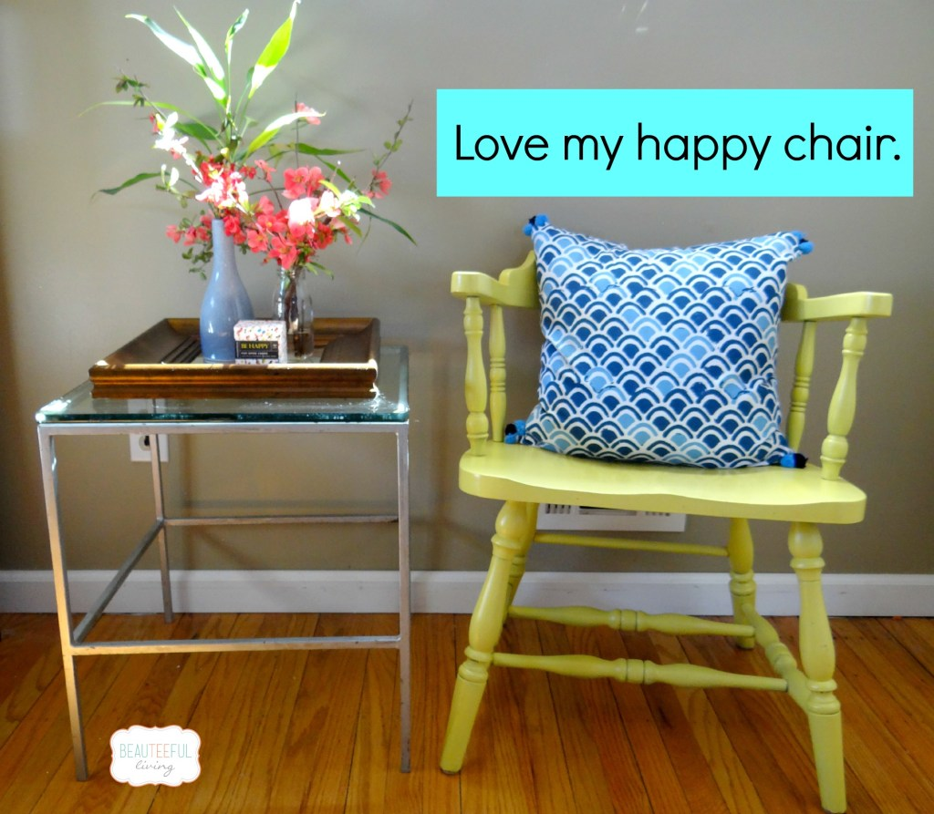 Upcycled wooden chair