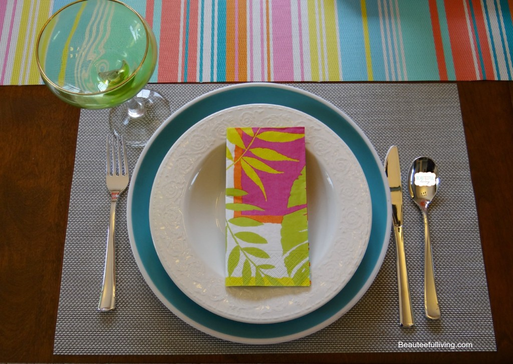 Summer Entertaining table setting