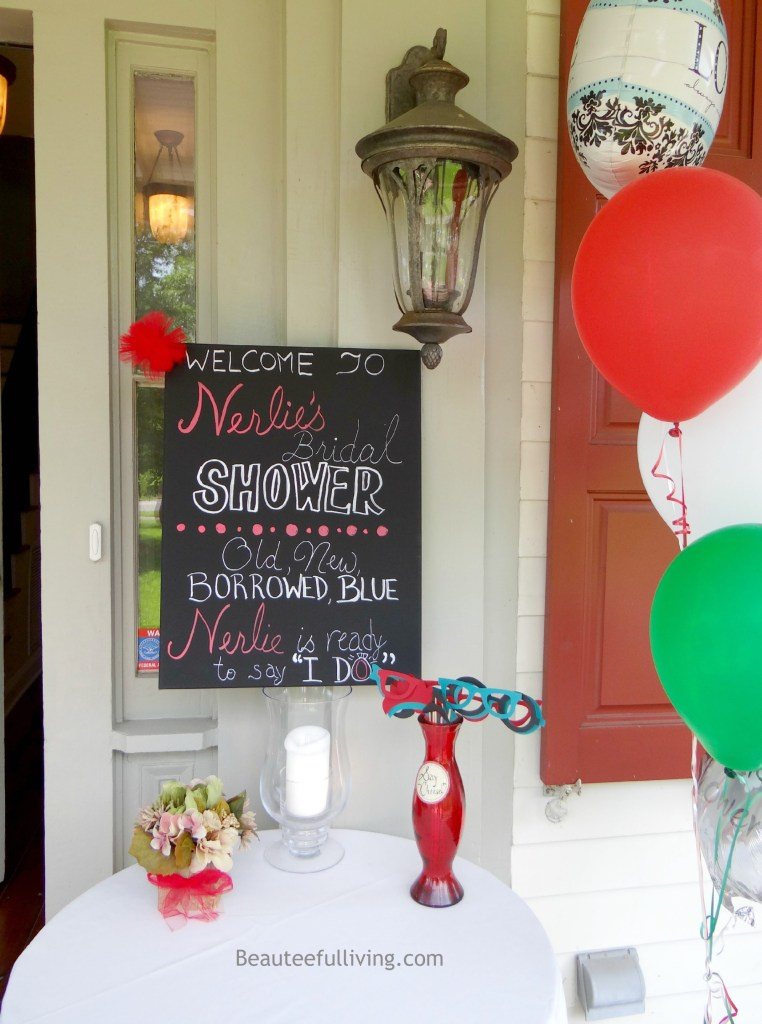 Bridal shower welcome sign Beauteefulliving