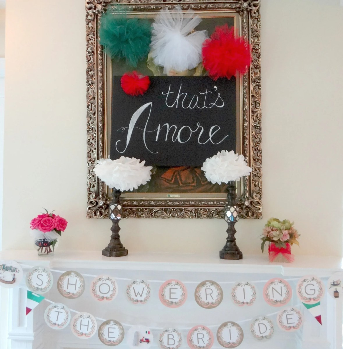 Italian Themed Bridal Shower Decor