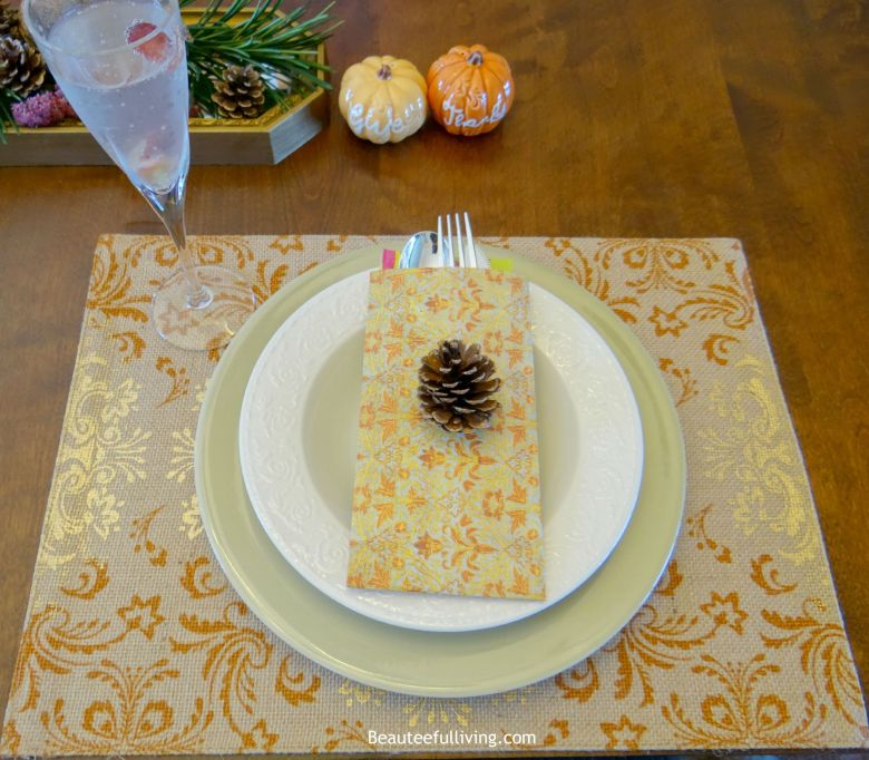 Fall Place Setting Beauteeful Living