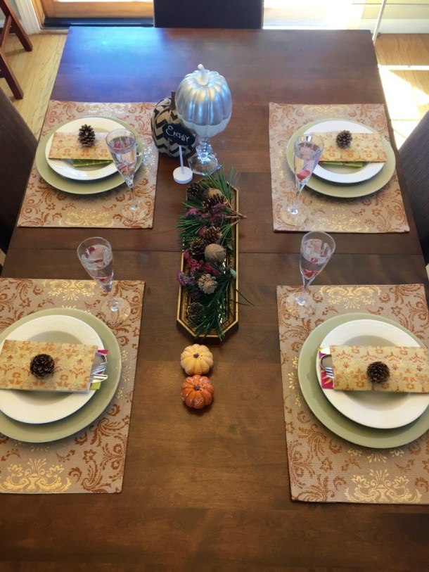 Fall tablescape alternate view - Beauteeful Living