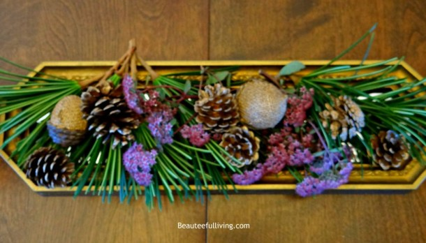 Pinecone centerpiece - Beauteeful Living