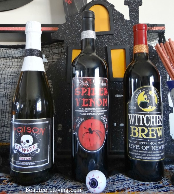 Halloween labels for wine