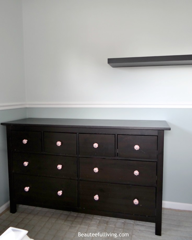 Hemnes dresser with new drawer pulls