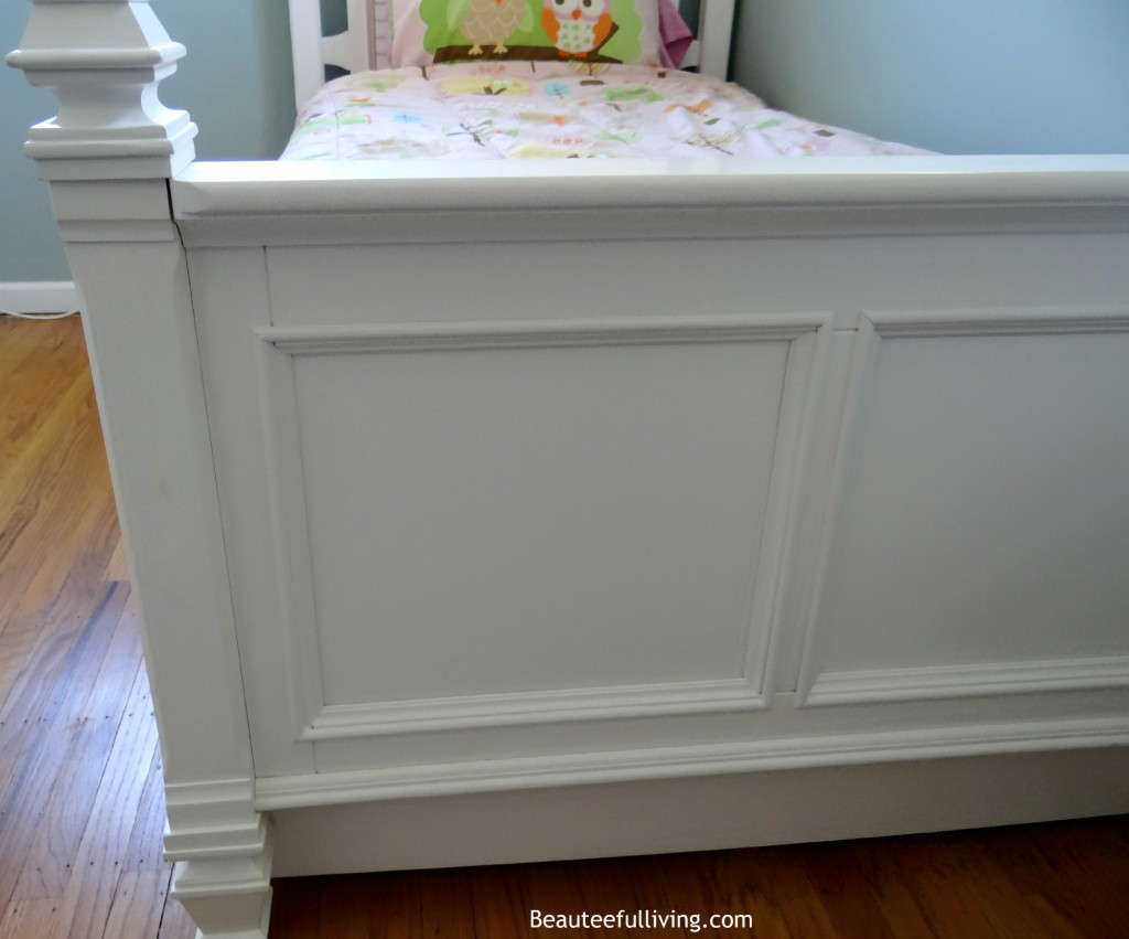 White bed end