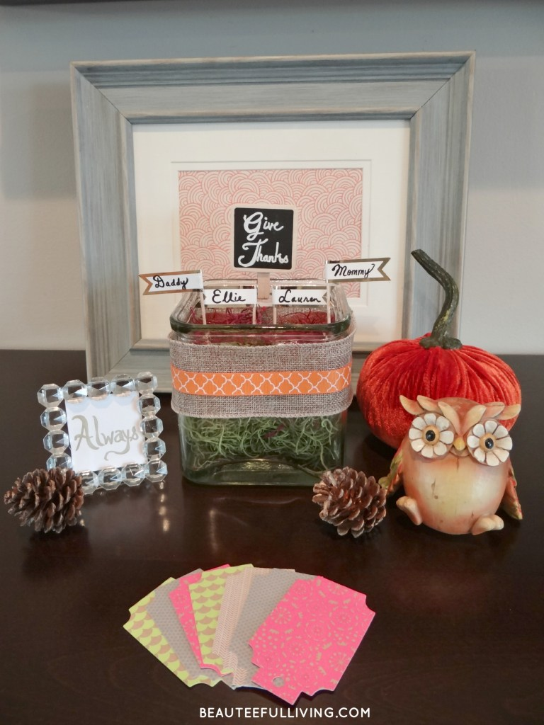 Give Thanks Container Display - Beauteeful Living