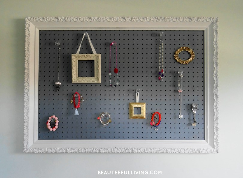 Jewelry Pegboard Frame - Beauteeful Living