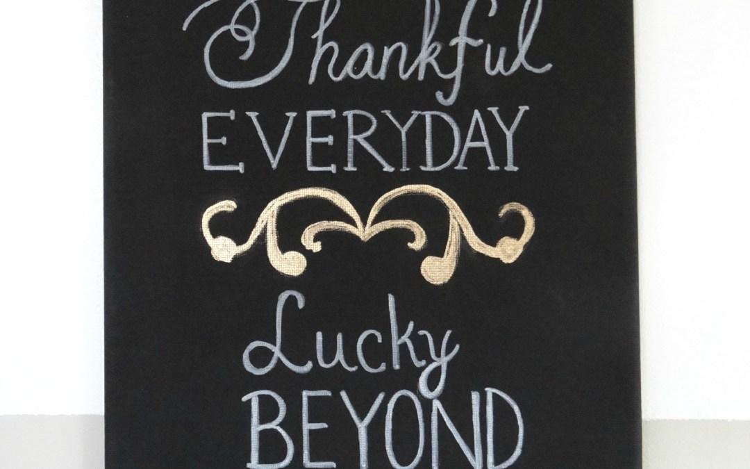Thankful Everyday Canvas Art