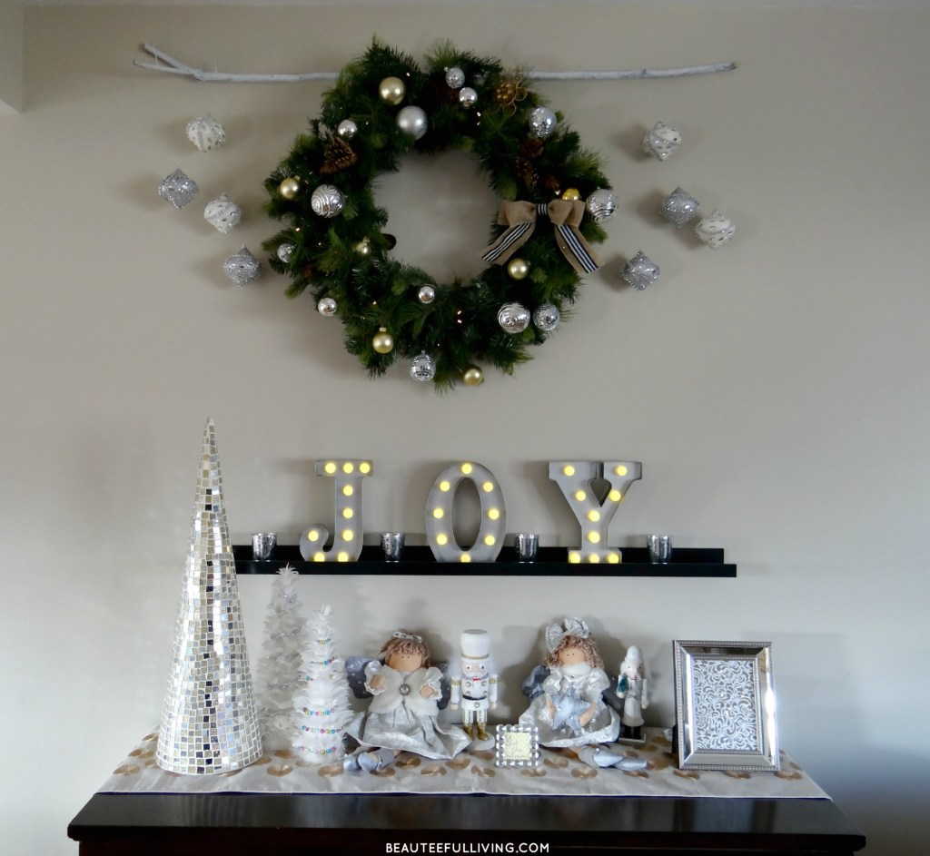 Buffet Table Christmas Display - Beauteeful Living
