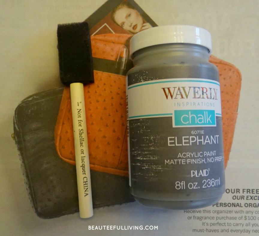 Chalk paint and brush
