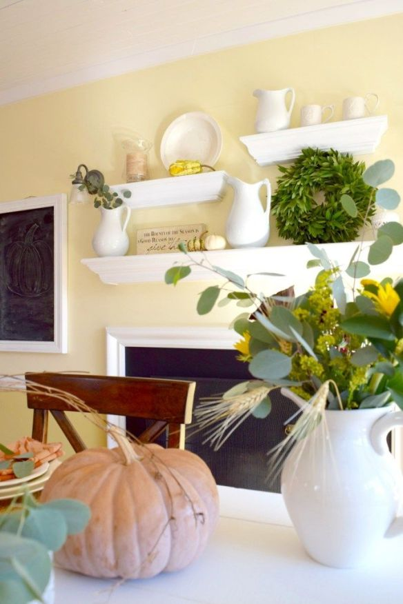 Thanksgiving Mantel - Karens up on the hill