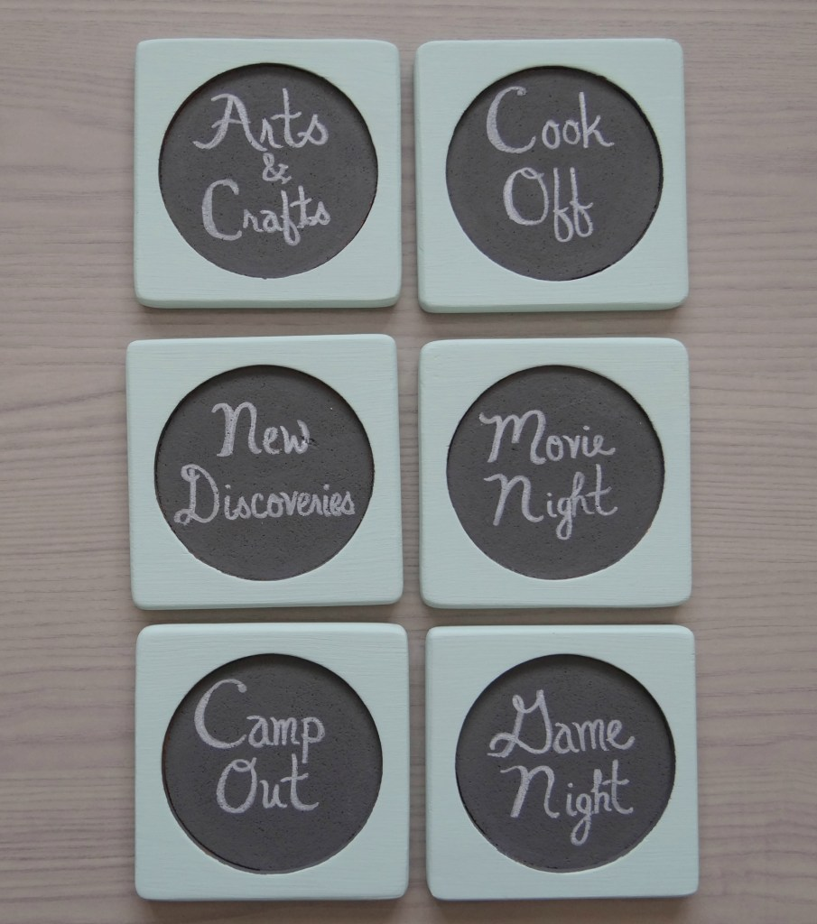 Family Night Ideas on Coaster