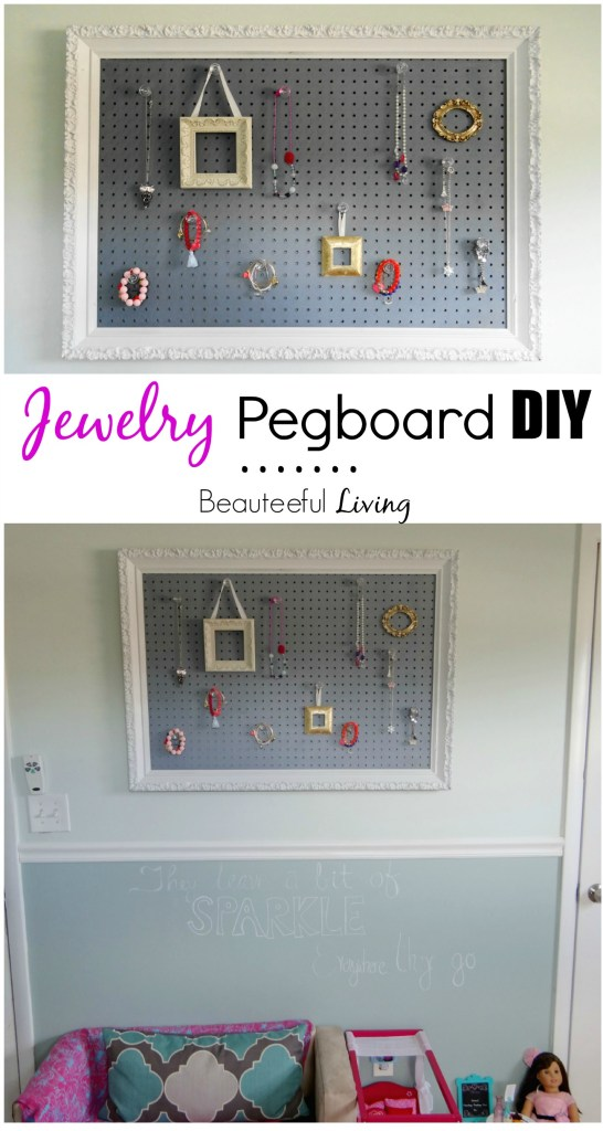 Jewelry Pegboard DIY - Beauteeful Living