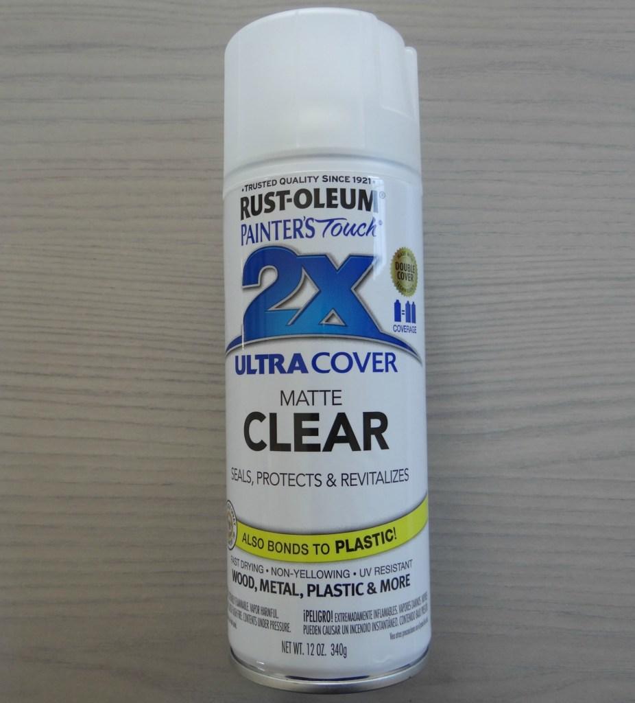Rustoleum matte clear sealant