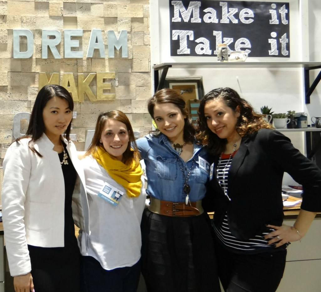 Bloggers at Make It Take It Booth