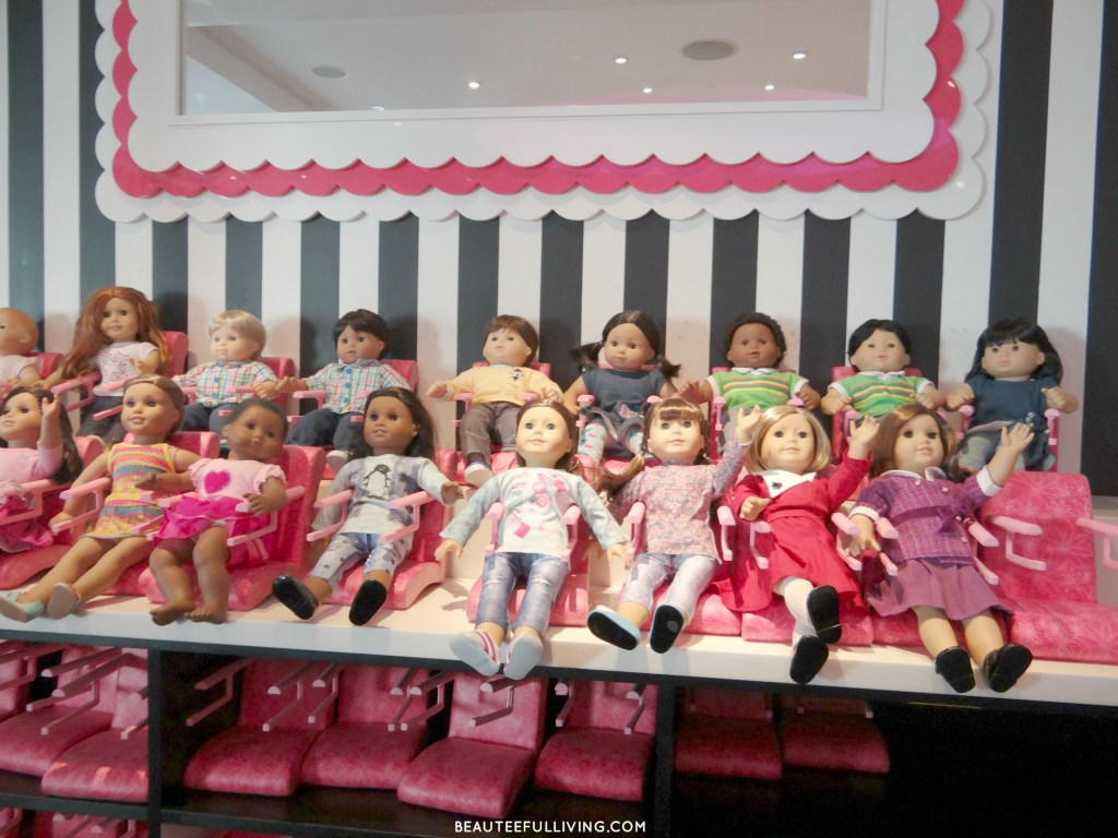 Dolls at American Girl Cafe