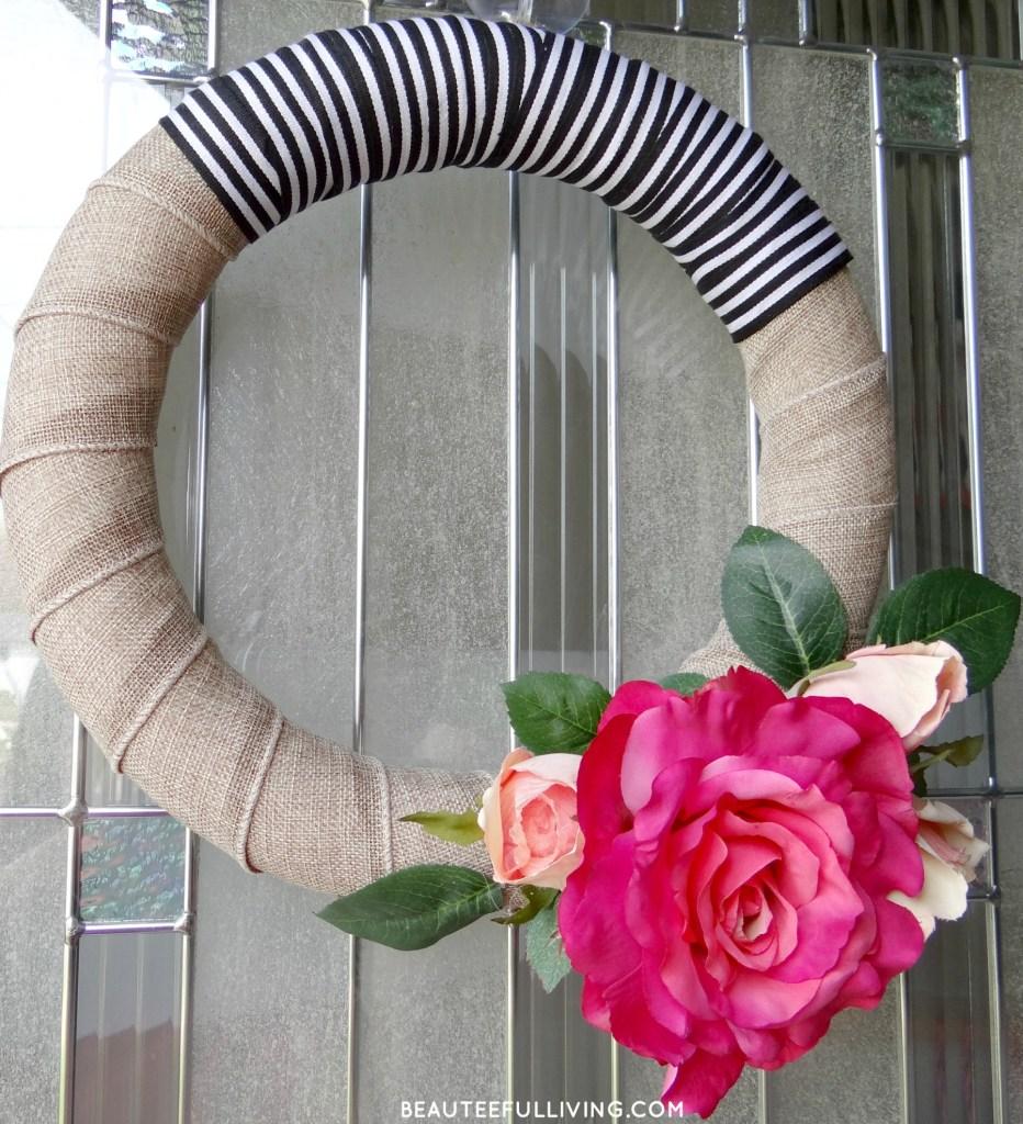 Modern Rose Bloom Wreath - Beauteefulliving