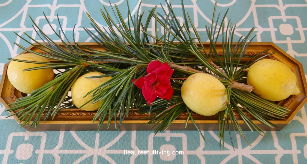 Lemon centerpiece - Beauteeful Living