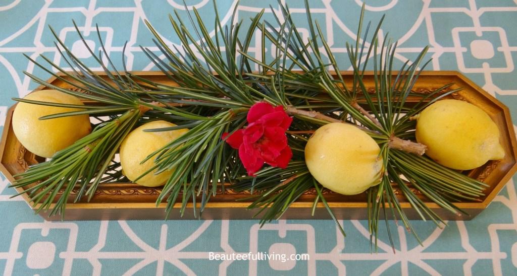 Lemon centerpiece - Beauteeful Living