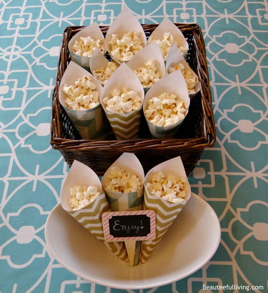 Popcorn in paper cones