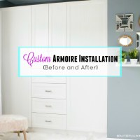 Custom Closet Armoire Installation - Before and After