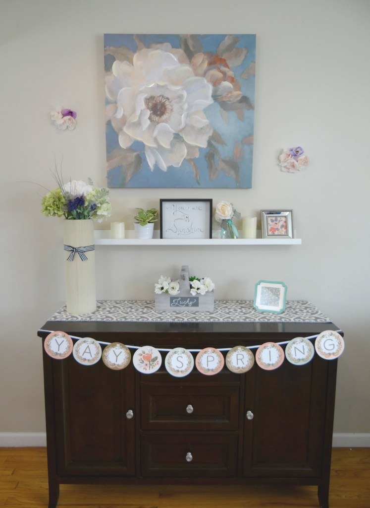 Spring Mantel Full View - Beauteeful Living