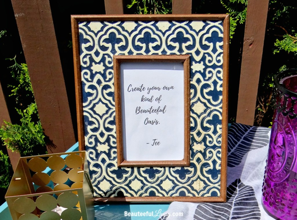 Moroccan styled picture frame