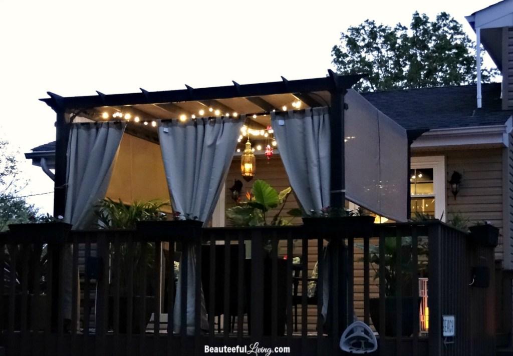 Pergola on wood deck - Beauteeful Living