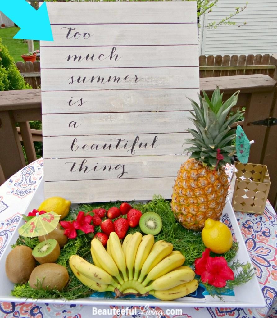 Summer fruit platter - Beauteeful Living