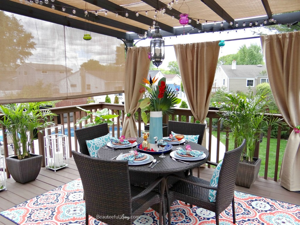Tropical Patio Dining Oasis - Beauteeful Living