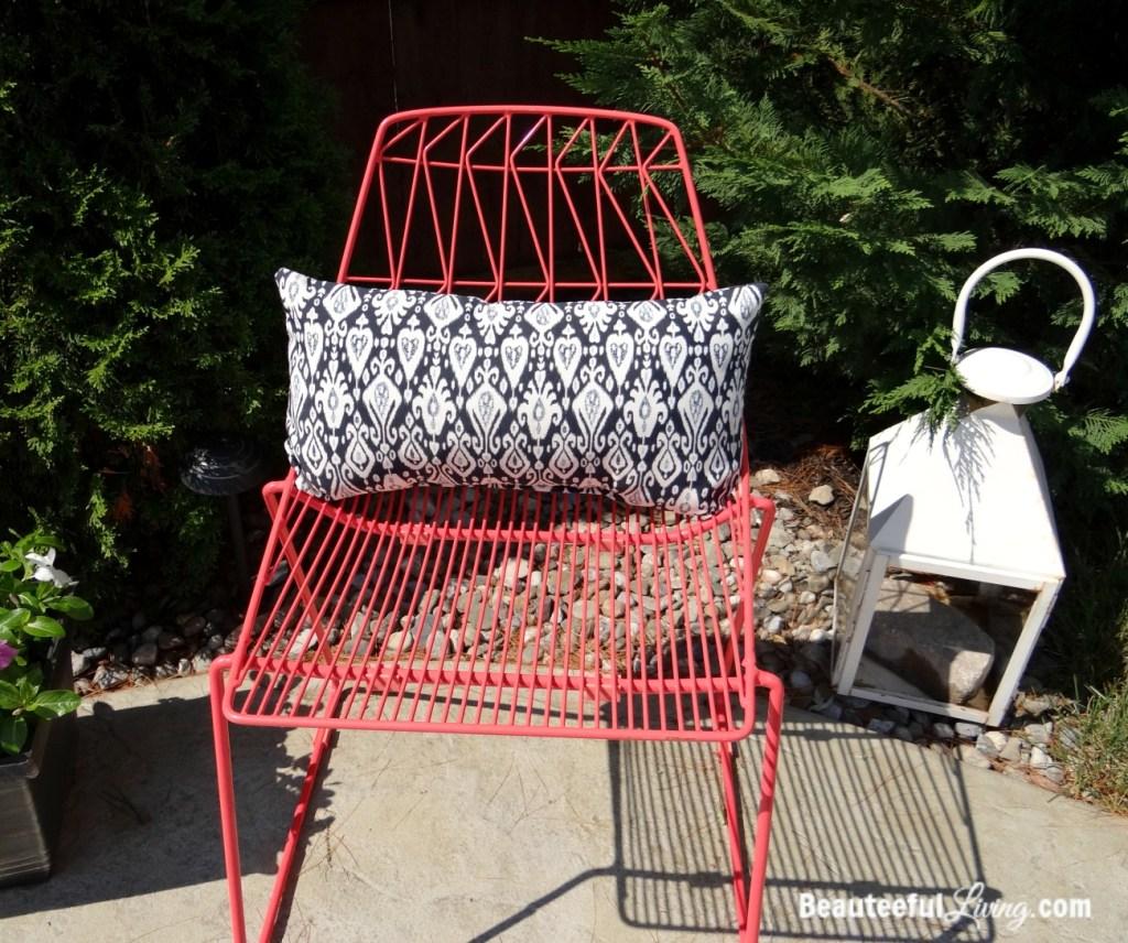 Coral Metal Chair