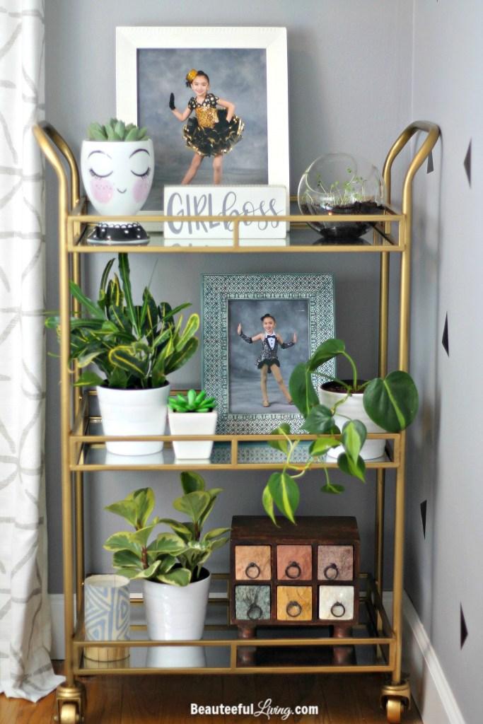 Gold Bar Cart - Beauteeful Living