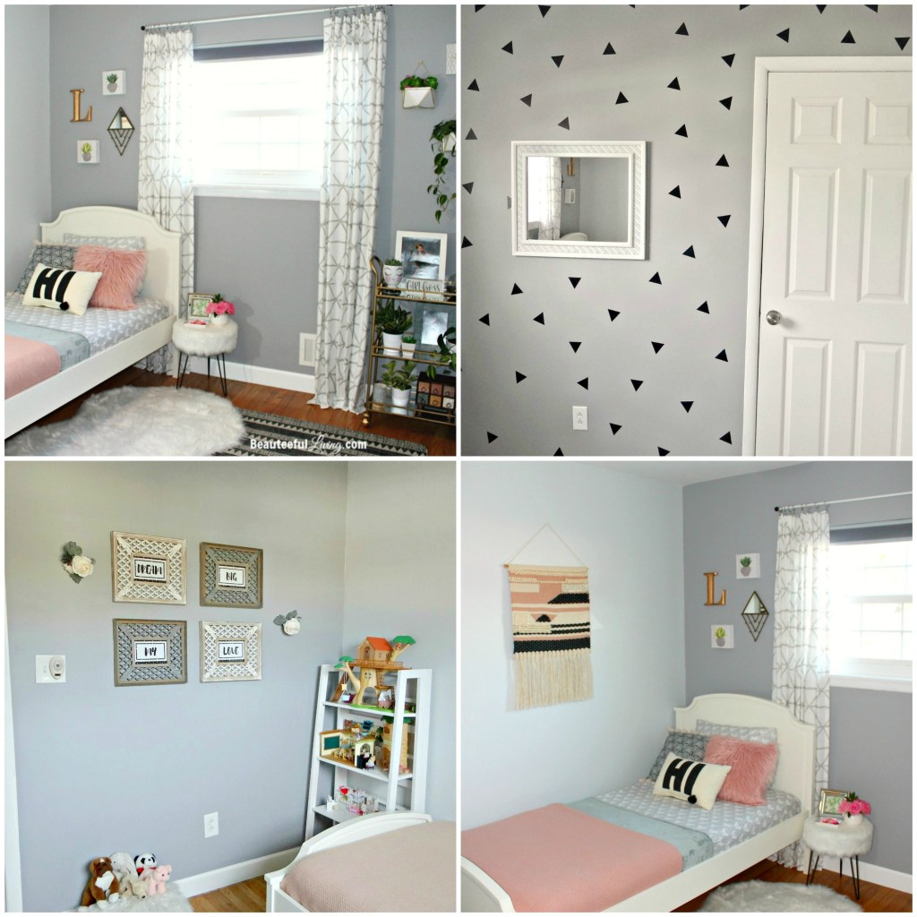 Hipster Chic Girls Room - After Photo Collage