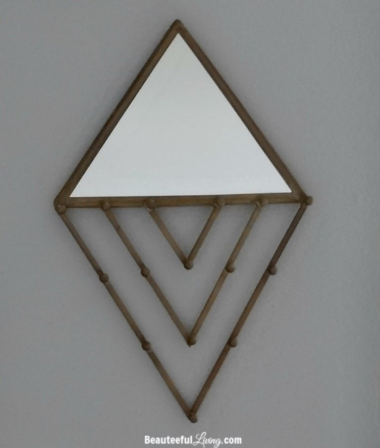 Triangle jewelry wall hang