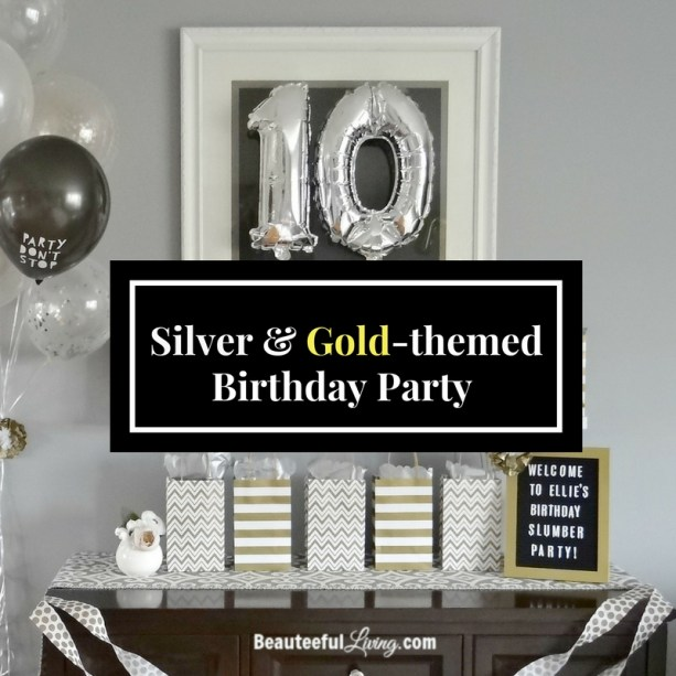 Silver and Gold Birthday Party
