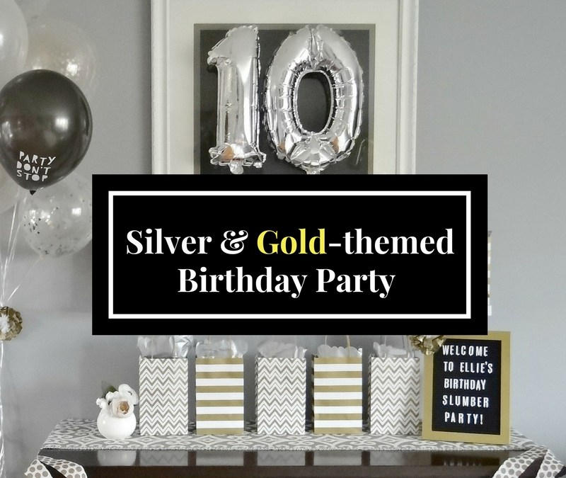 Silver and Gold Themed Birthday Party