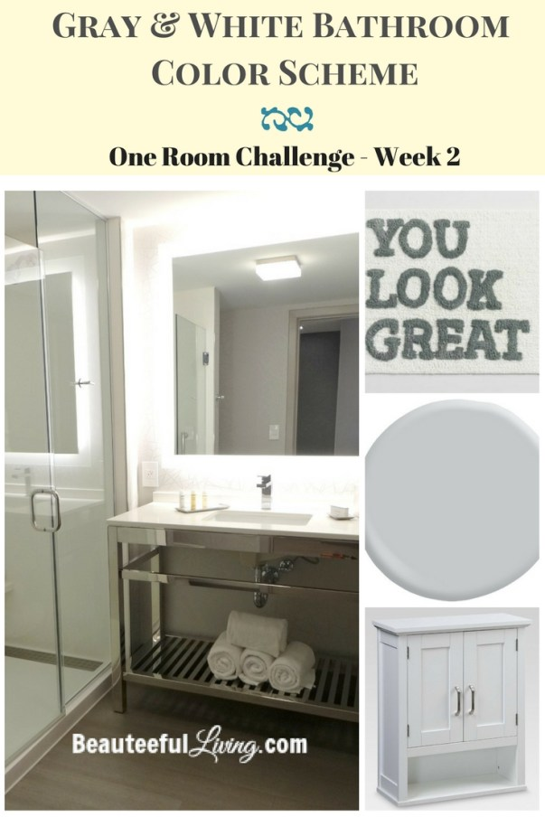 Gray and White Color Bathroom Color Scheme - ORC Week 2