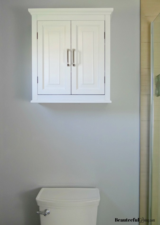 Bathroom wall cabinet above toilet