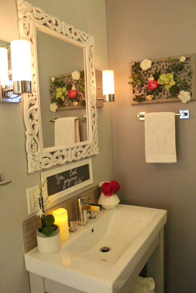 Spa themed bathroom vanity - Beauteeful Living