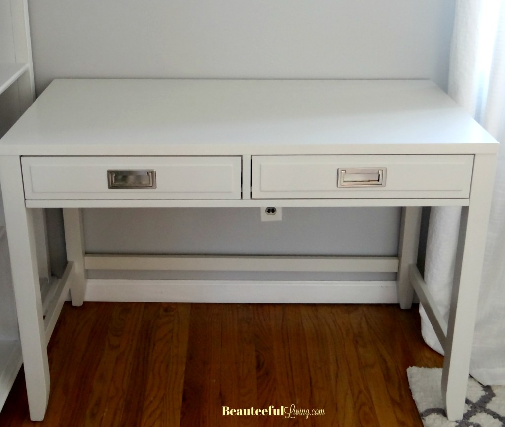Newport White Desk Assembled