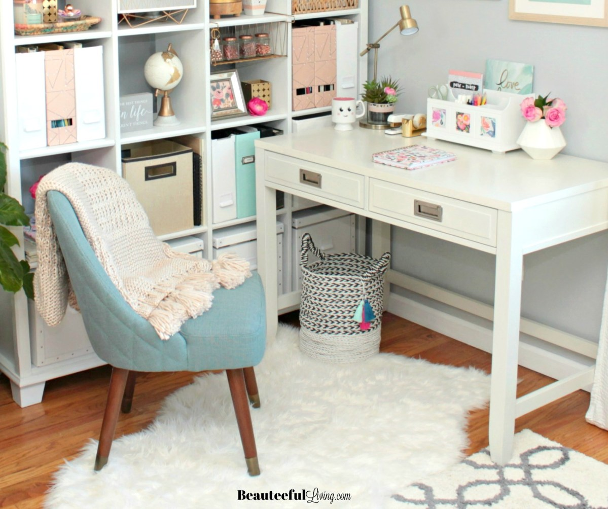 Glam Office Makeover - The Big Reveal