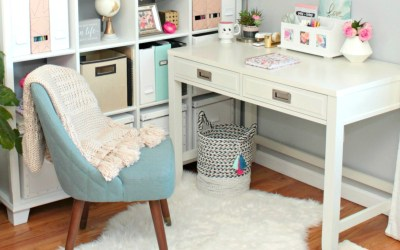 Glam Office Makeover – The Big Reveal