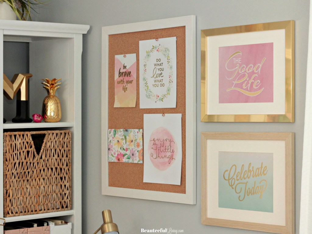 Office Pinboard and Framed Signs - Beauteeful Living