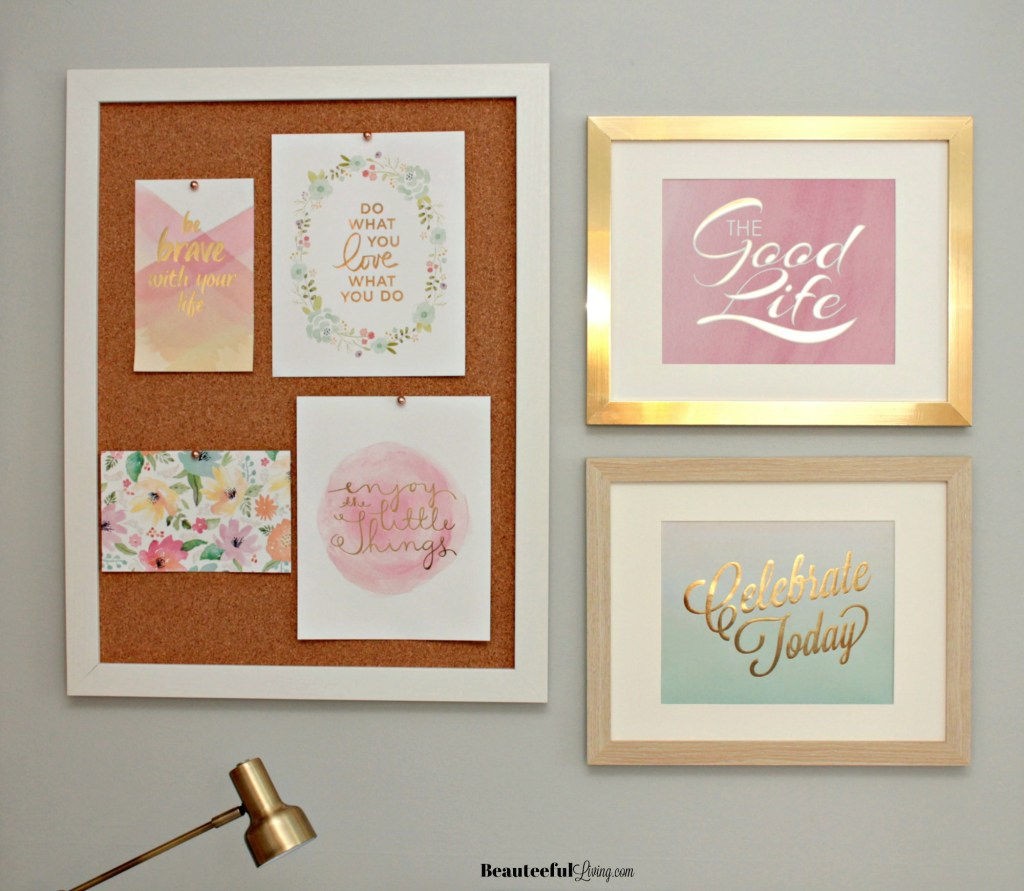 Pinboard and Framed Signs - Beauteeful Living