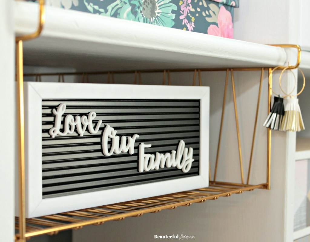 Small letterboard with wine tassels - Beauteeful Living