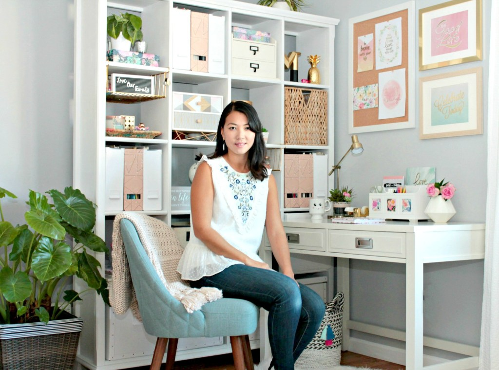 Tee in Corner Office Makeover - Beauteeful Living