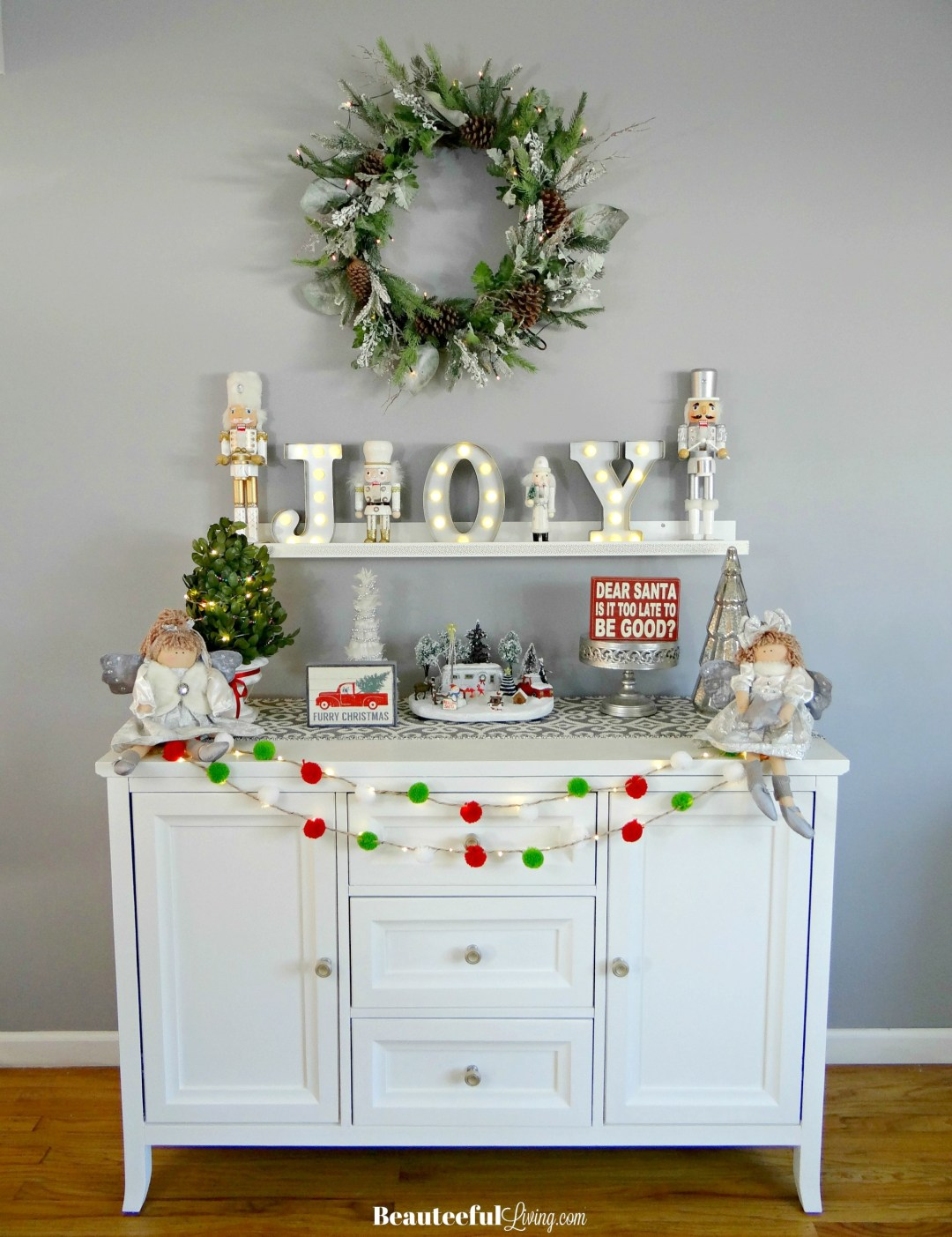 Glam Holiday Console Table Decor - Beauteeful Living