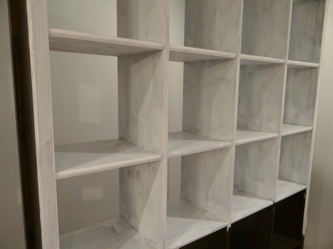 Repainting bookcase with chalk paint