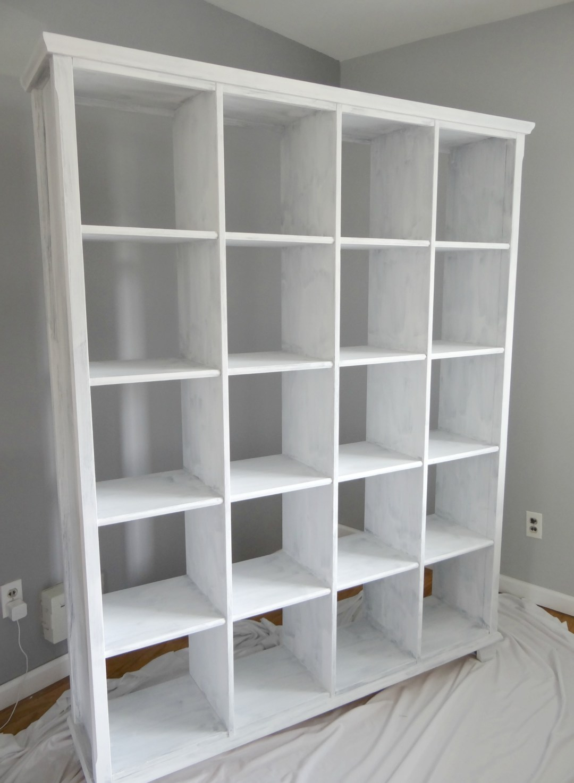 Repainting bookshelf white